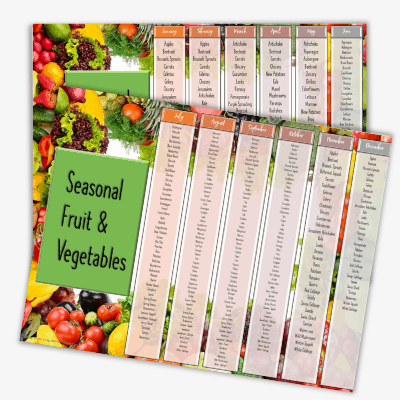 buy seasonal, in-season fruits and vegetables