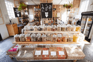 bulk buying, refill shopping, zero waste shopping